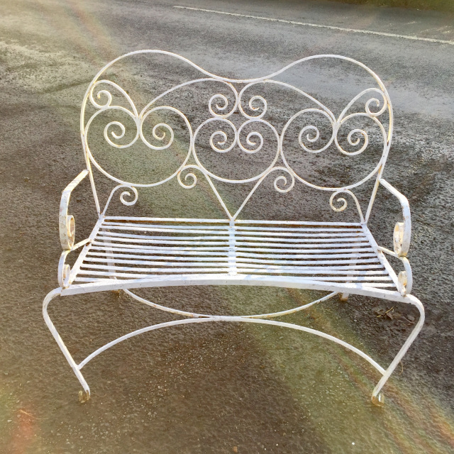 Groovy 1920S 30S Wrought Iron Garden Bench Gf 097 Eyn Sold Pdpeps Interior Chair Design Pdpepsorg