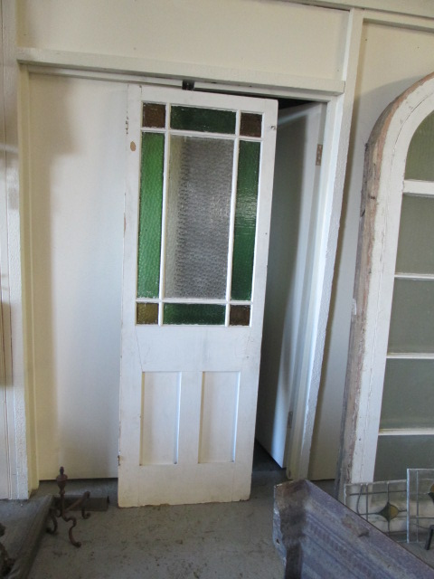 1920s 30s Coloured Glass Vestibule Door S 022 Sold